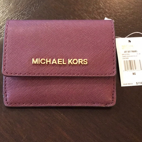 f0c5fd5064cf21 Michael Kors Bags | Bnwt Mk Mini Wallet With Key Ring And Id Holder ...